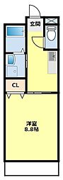 PassiveHouse32[1E号室]の間取り