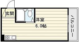 ハイツ南の風[3階]の間取り