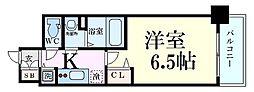 プレサンス梅田北オール 5階1Kの間取り