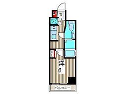マーロ西川口ルネサンスコート[8階]の間取り