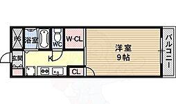 JR東海道・山陽本線 吹田駅 徒歩14分の賃貸マンション 3階1Kの間取り