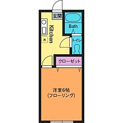 第3城所ハイツ[2階]の間取り