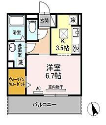 Loco Moco Ⅳ[3階]の間取り