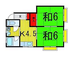 石井コーポ[302号室]の間取り