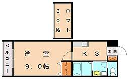 エスコートオータニ7[1階]の間取り