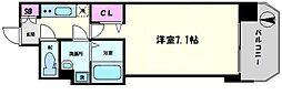 セレニテ日本橋プリエ 14階1Kの間取り