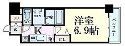 プレサンスTHE KYOTO 華苑 2階1Kの間取り