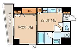 東京メトロ銀座線 稲荷町駅 徒歩4分の賃貸マンション 2階1DKの間取り