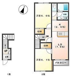 メゾンコンフォール[2階]の間取り