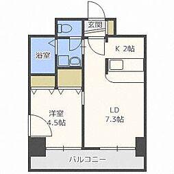 アーク菊水[7階]の間取り