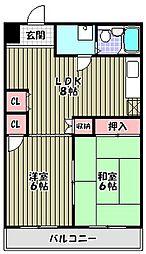 ハイキャッスルビル[4階]の間取り