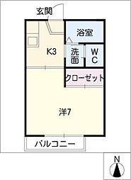 ブランドール S B棟[2階]の間取り