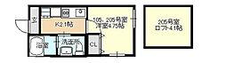 ベイルーム東白楽[2階]の間取り