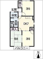 イーストアヴェニューB棟[2階]の間取り