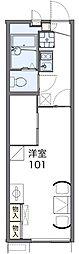 JR片町線(学研都市線) 四条畷駅 徒歩5分の賃貸アパート 1階1Kの間取り