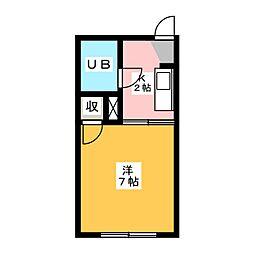 コーポアジオカ[1階]の間取り