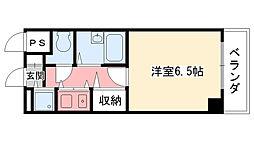 兵庫県西宮市二見町の賃貸マンションの間取り