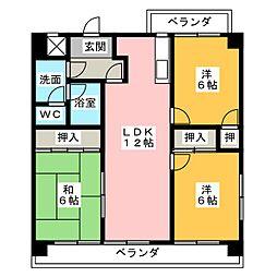 ボンエトワール[3階]の間取り