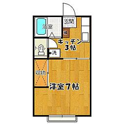 キャロットハウス2[2−A号室]の間取り