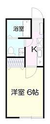 コーポ片平[1階]の間取り
