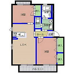 アミールB棟[1階]の間取り