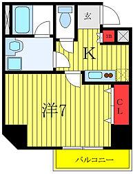 都営三田線 西台駅 徒歩9分の賃貸マンション 3階1Kの間取り