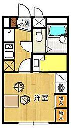 レオパレス北夙川フラット[103号室]の間取り