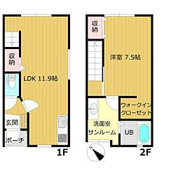 エレノア上赤江[B102号室]の間取り