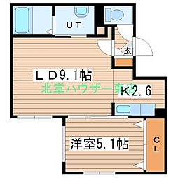(仮)北14東1 A棟[2階]の間取り