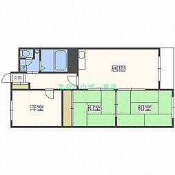 北海道札幌市東区伏古三条2丁目の賃貸マンションの間取り
