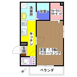 メゾンAki[301号室]の間取り