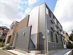 東京都新宿区赤城下町の賃貸アパートの外観