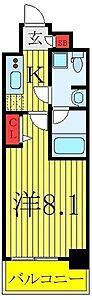 間取り,1K,面積25.62m2,賃料7.6万円,東武東上線 東武練馬駅 徒歩10分,都営三田線 西台駅 徒歩25分,東京都板橋区徳丸1丁目