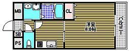 アムールKATAKURA[2階]の間取り