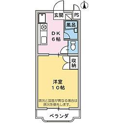コンシェルジュモリシマ[3階]の間取り