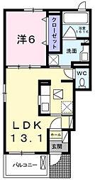 兵庫県三木市福井3丁目の賃貸アパートの間取り