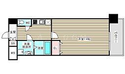 Pi'ece charmante Fukushima 9階1Kの間取り