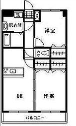 ユーミー浮城[503号室]の間取り