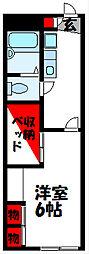 レオパレス飯塚 1階1Kの間取り