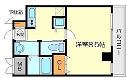 グラスロード新大阪[3階]の間取り