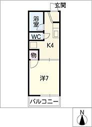 ハイツ弥生ケ岡[1階]の間取り