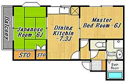 メゾンサムージュ[2階]の間取り