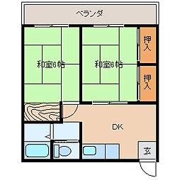 姉崎グリーンハイツI[102号室]の間取り