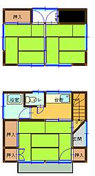 [一戸建] 埼玉県越谷市千間台西2丁目 の賃貸【/】の間取り