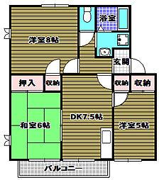 メゾン栄[1階]の間取り