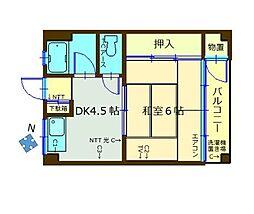 臼井ビル[305号室]の間取り