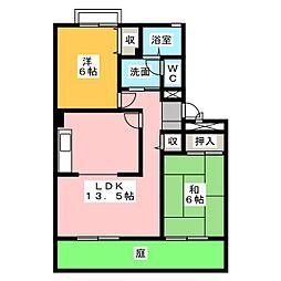 カーサベルデIII[1階]の間取り