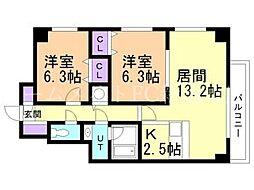 HOTAL8[6階]の間取り