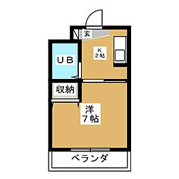グランディール東寺[2階]の間取り