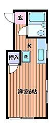 コーポサトウ[2階]の間取り